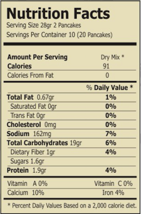 gluten free beet and quinoa mix nutrition facts
