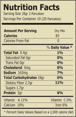 regular carrot and quinoa mix nutrition facts