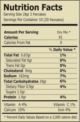 gluten free spinach and quinoa mix nutrition facts