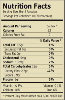 regular spinach and quinoa mix nutrition facts